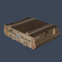 7 62x54r ammo box 3d x
