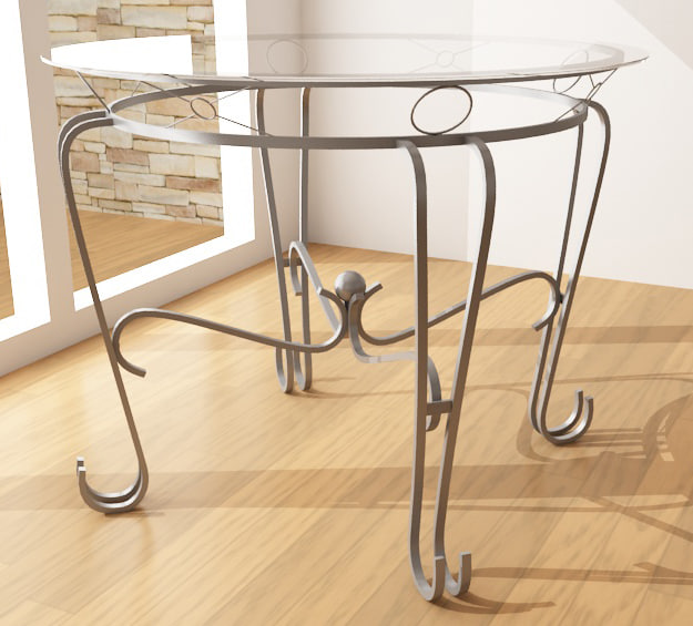 3d dining table 3 model