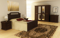 3d bedroom set 01 beds