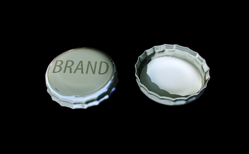 metal bottle cap 3d obj