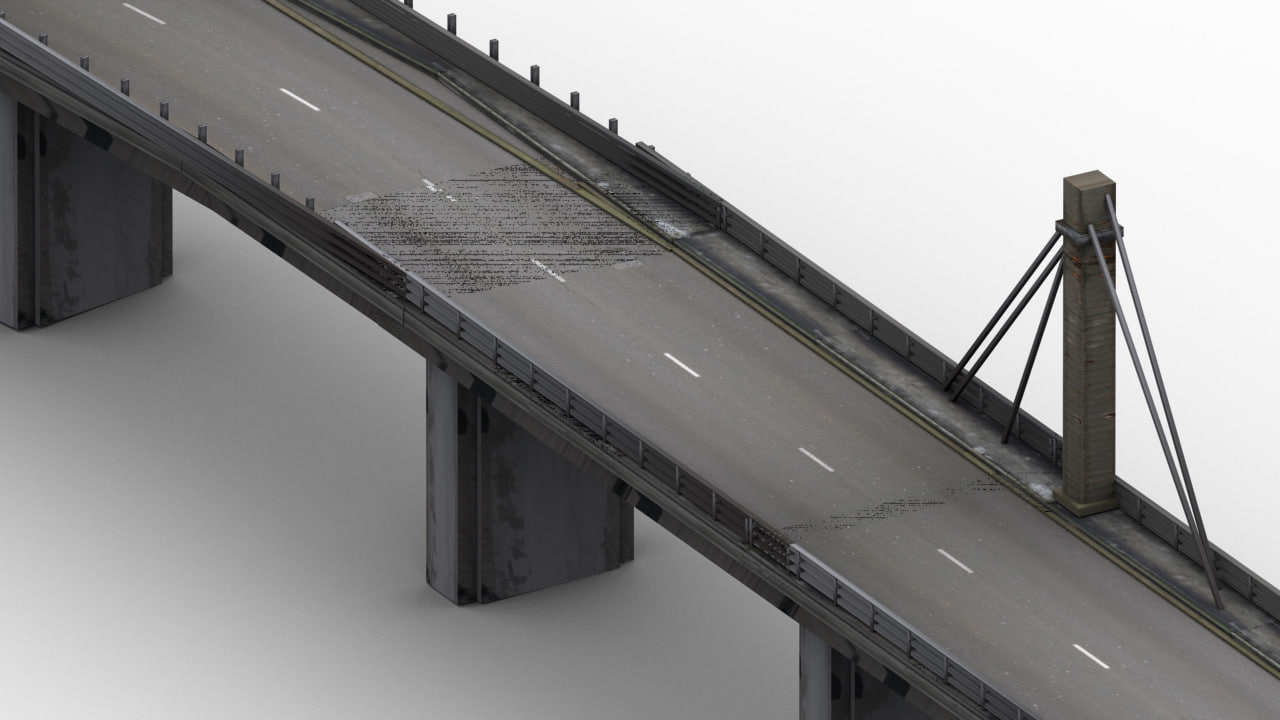 3ds max highway bridge