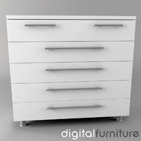 chest drawers 3d model