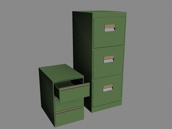 filing cabinets 3d 3ds