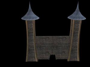 midevil gatehouse 3d model