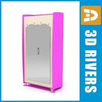 3ds kid wardrobe furniture