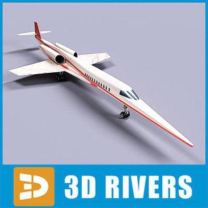 aerion sbj jets 3d model