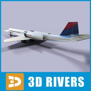 3d model of aerion sbj jets