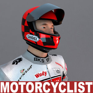 3d motorcyclist games modelled model