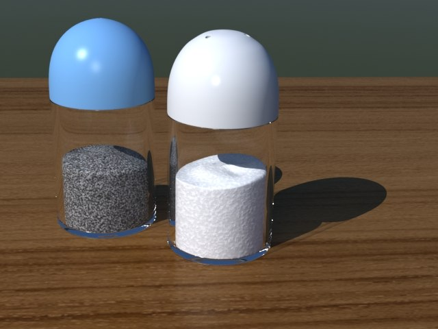3d salt pepper shakers model