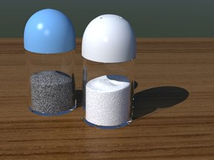 3d salt pepper shakers model