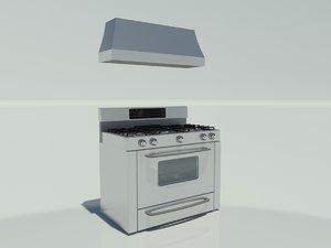 stove oven vent 3d model