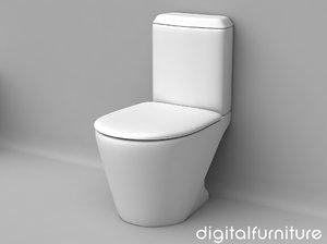 3d toilet furniture model