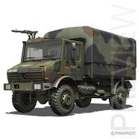 unimog trucks german mercedes 3d model