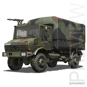 unimog trucks german mercedes 3d model