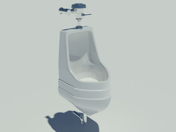 3d model bathroom urinal