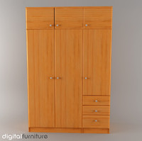 3d model wardrobe digital