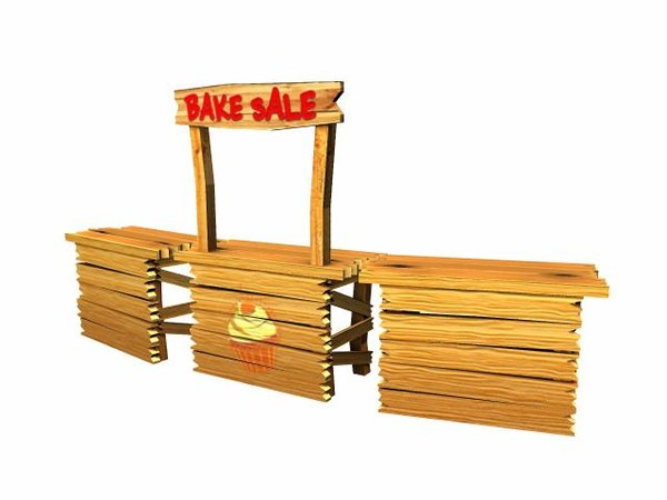 3d ready bake stand crates model