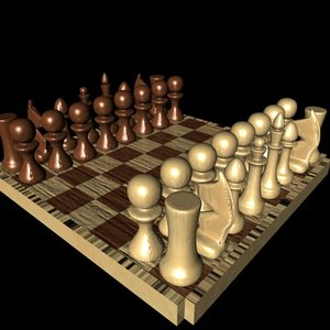 free chess boardgame 3d model