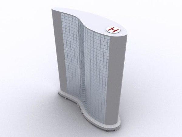 modern architecture skyscraper 3d model