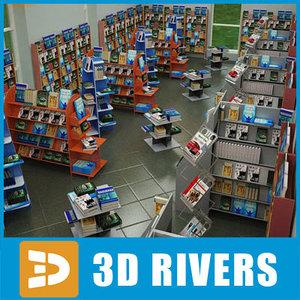 3d model book shop