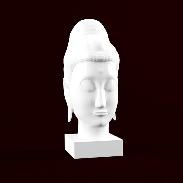 buddhas sculpture 3d model