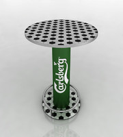 carlsberg football table 3d model