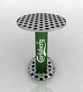carlsberg football table 3d model