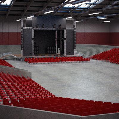 maya concert stage indoor