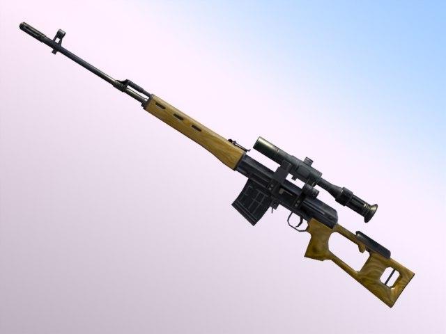 3d model svd dragunov rifle
