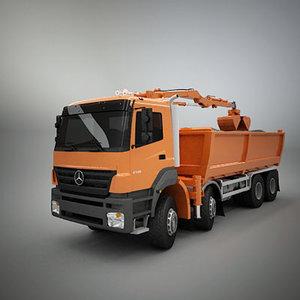 3d model of truck dump load