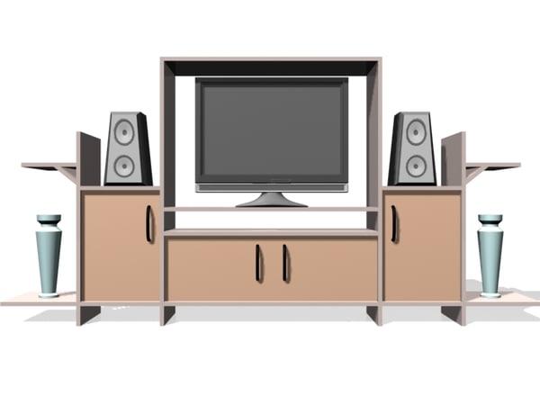 entertainment center 3d model
