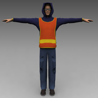 3ds max construction worker