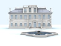 aristocratic english house 3d max