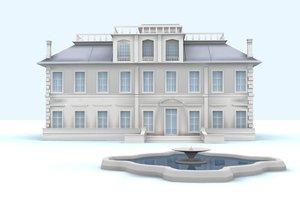 aristocratic english house 3d max