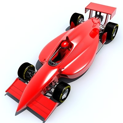 3d indy race car