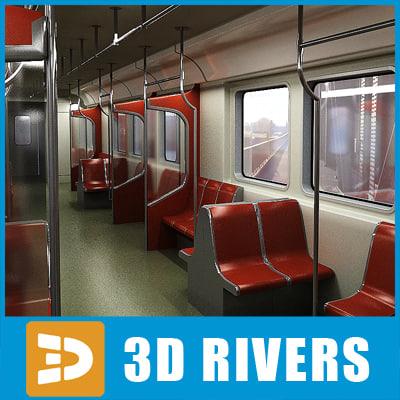 t1 train interior 3d model