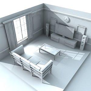 living room obj