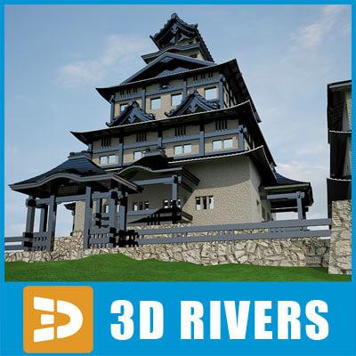 3d model japan castle