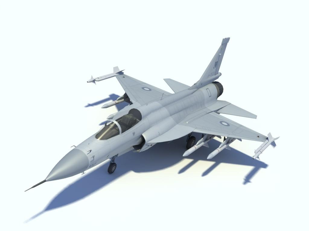 3d chengdu jf-17 thunder fighter model