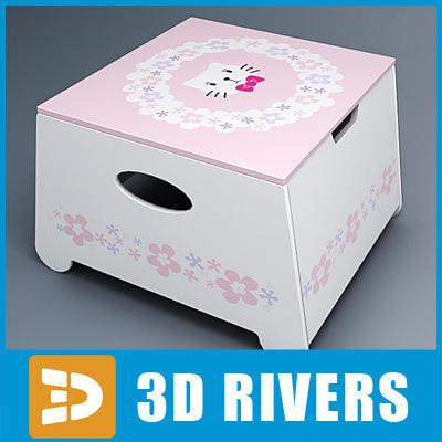 3d kid box seat model