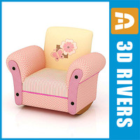 3ds kid armchair furniture