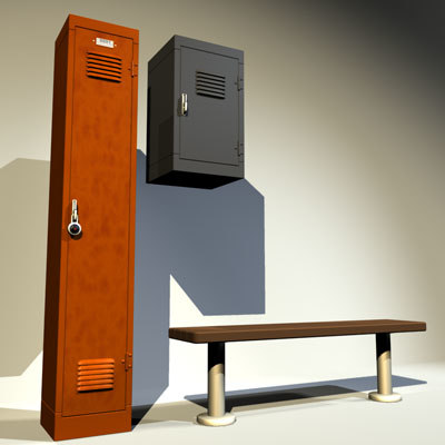 lockers 02 gym 3d model