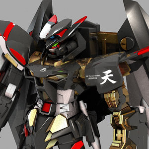 mbf-p01-re2 gundam astray gold 3d model