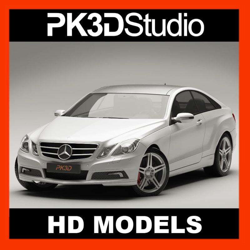 3d mercedes e class coupe model