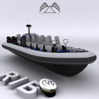 rigid inflatable boat 3ds
