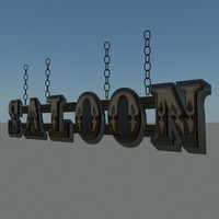 saloon sign 3ds