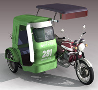philippine tricycle 3d lwo