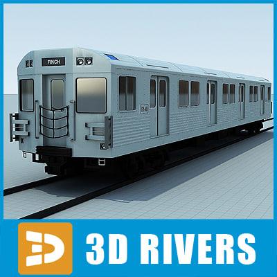 t1 train exterior 3d model