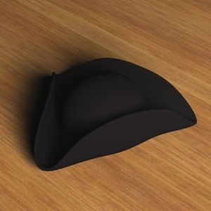 colonial cornered hat 3ds