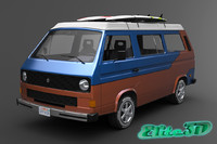 1980 vanagon version 3d max